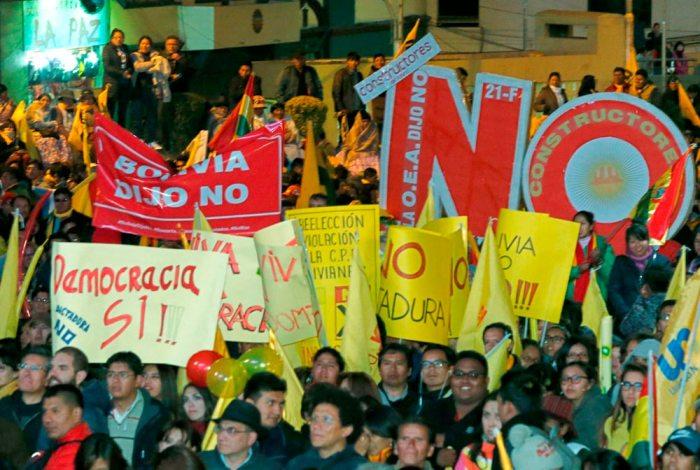 DESDE EL 2017, VARIOS SECTORES DE LA POBLACIÓN DE BOLIVIA SE MOVILIZAN EXIGIENDO RESPETO A SU VOTO.