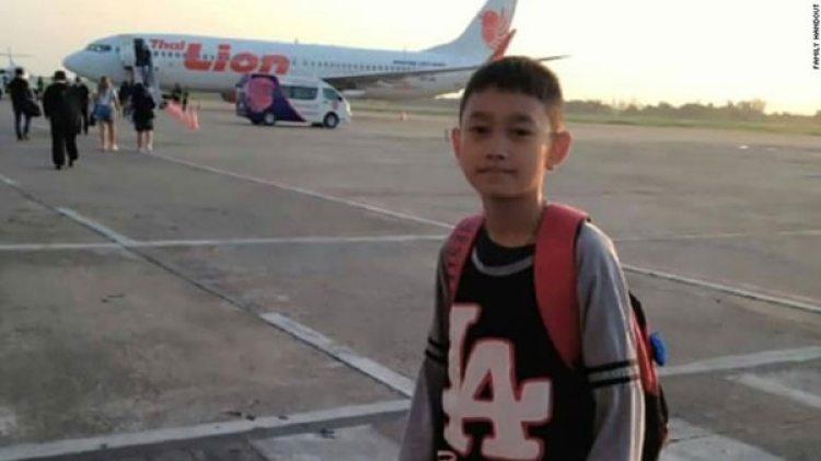 """Natthawut Takumsong tiene 14 años y juega de delantero de los """"Jabalíes Salvajes"""""""