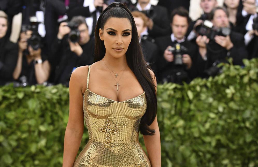 Foto: Kim Kardashian en la gala del MET.