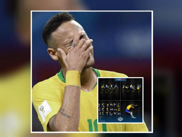 crean abecedario inspirado en las caidas de neymar