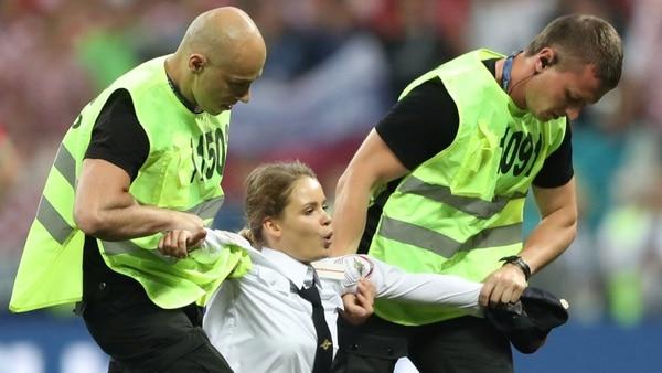 El detrás de escena de la invasión en la final del Mundial de Rusia 2018