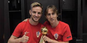 Modric y Rakitic intercambiaron camisetas tras la final y se escribieron conmovedores mensajes