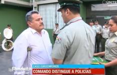 Siles entregó reconocimiento al policía que resultó herido en EuroChronos