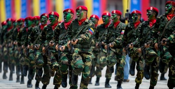 Soldados del Ejército venezolano
