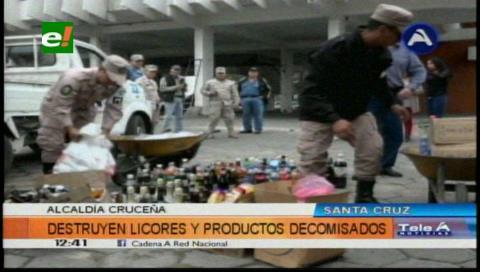Santa Cruz: Destruyen productos decomisados en operativos