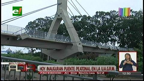 Habilitan nuevo puente de la Uagrm