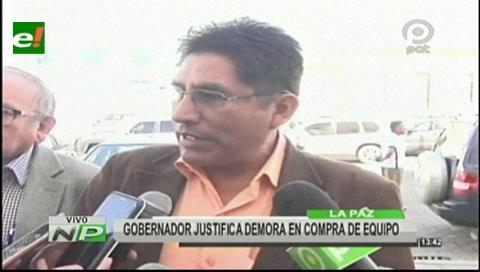 La Paz: Gobernador justifica demora en compra de equipo para enfermos con cáncer