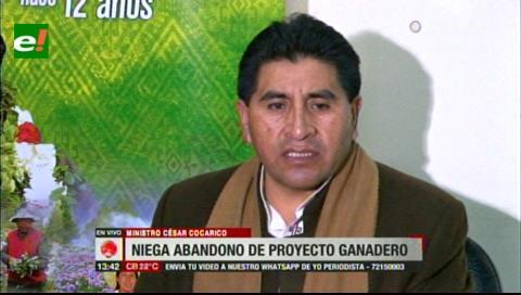 Ministro Cocarico postergó su visita a centro de ganado bovino para evitar show político