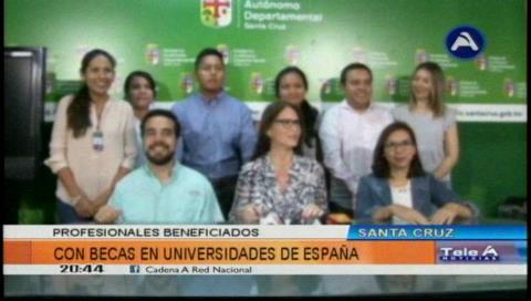 Becas Presente: 13 jóvenes cruceños viajarán a España para una especialización profesional
