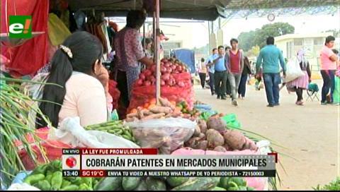 Santa Cruz: Aprueban Ley de Patentes para mercados municipales