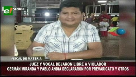 Pando: Vocal y juez declararon por el delito de prevaricato