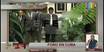 Video titulares de noticias de TV – Bolivia, mediodía del martes 17 de julio de 2018