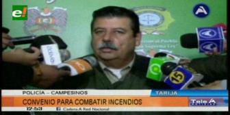 Tarija: Policía capacitará a campesinos contra incendios