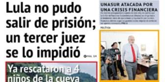 Portadas de periódicos de Bolivia del lunes 9 de julio de 2018