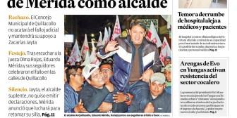 Portadas de periódicos de Bolivia del sábado 14 de julio de 2018