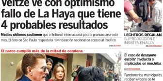 Portadas de periódicos de Bolivia del miércoles 18 de julio de 2018