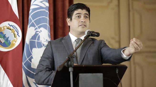 El presidente de Costa Rica, Carlos Alvarado (EFE/Jeffrey Arguedas)