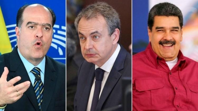 Julio Borges, Rodríguez Zapatero y Nicolás Maduro