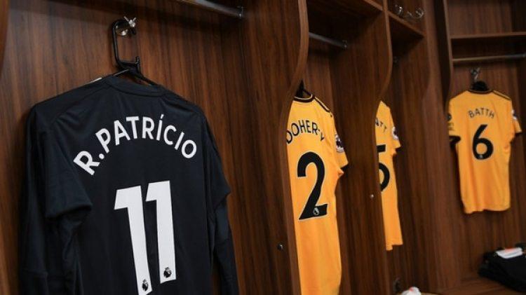El portero Rui Patricio llevó el dorsal 11 por una causa solidaria (@Wolves)