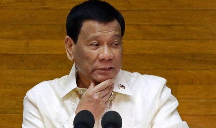 Rodrigo Duterte, en un discurso ante el Congreso (Reuters)