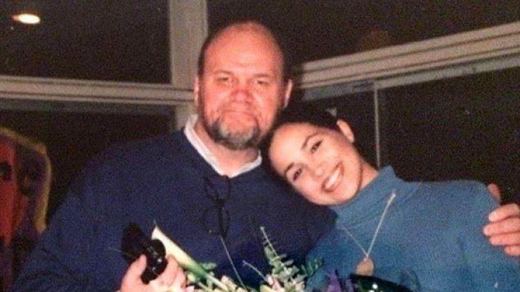 Meghan Markle junto a su padre Thomas Markle