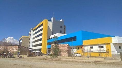 Construcción del Hospital de Punata tiene un avance de más del 95%. Foto:Ministerio de Salud