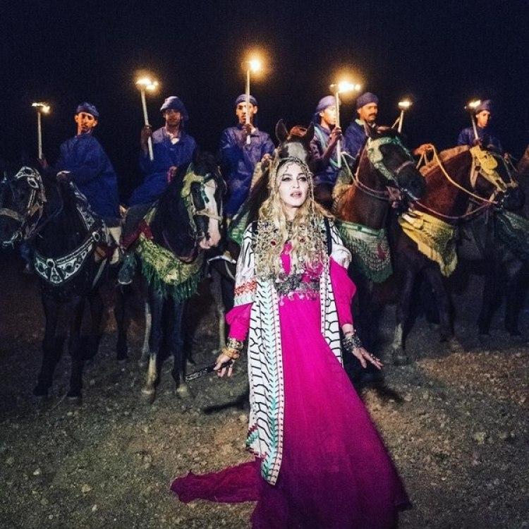 Madonna en su fiesta de cumpleaños número 60.
