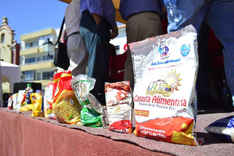Gobernación de Tarija licitará la canasta alimentaria para la tercera edad desde el 2019