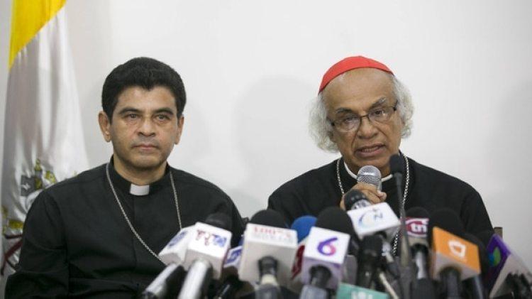 Leopoldo Brenes, secretario general de la Conferencia Episcopal de Nicaragua (EFE/Jorge Torres)