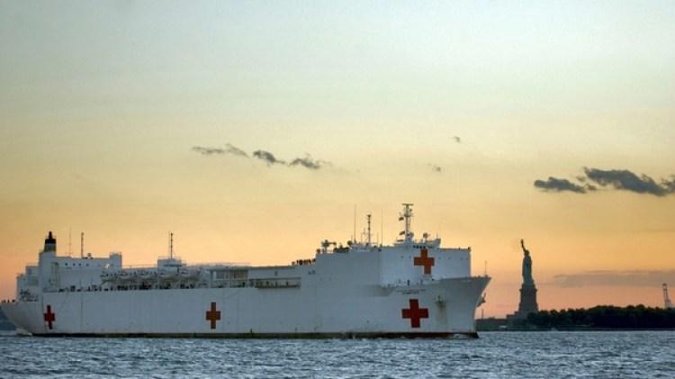 El USNS Comfort es un barco con capacidad para más de mil pacientes (U.S. Navy)
