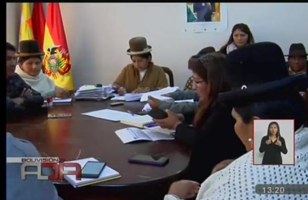 Asambleístas departamentales llegan acuerdo con comunarios de Luribay