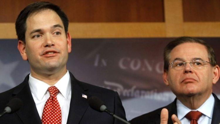 Marco Rubio (republicano) y Bob Menéndez (demócrata), son algunos de los legisladores que firmaron la misiva