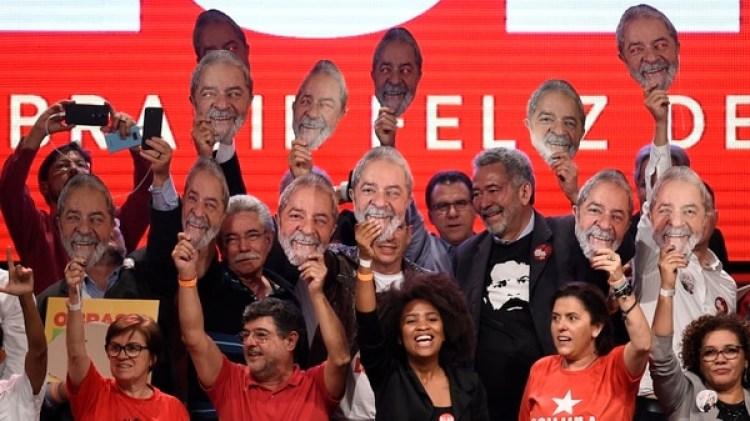 El lanzamiento de la candidatura de Lula (Reuters)