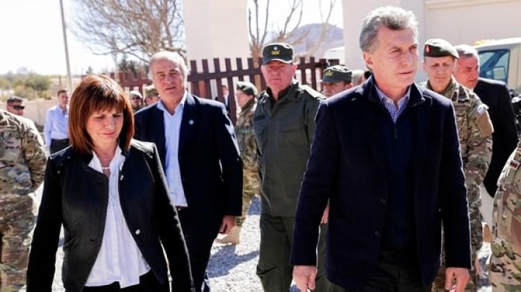 Mauricio Macri junto a Patricia Bullrich en Jujuy. (Foto: NA)