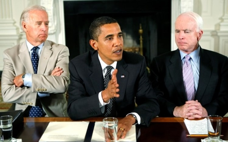 Joe Biden, Obama y McCain.