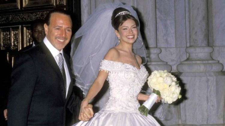 En su casamiento con Tommy Mottola, su gran amor