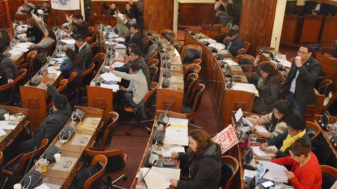 El opleno de la Cámara de Diputados sesiona en la madrugada de este sábado 25 de agostio de 2018. Foto: Cámara de Diputados