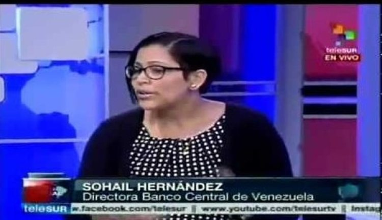 Sohail Hernández, directora chavista del BCV
