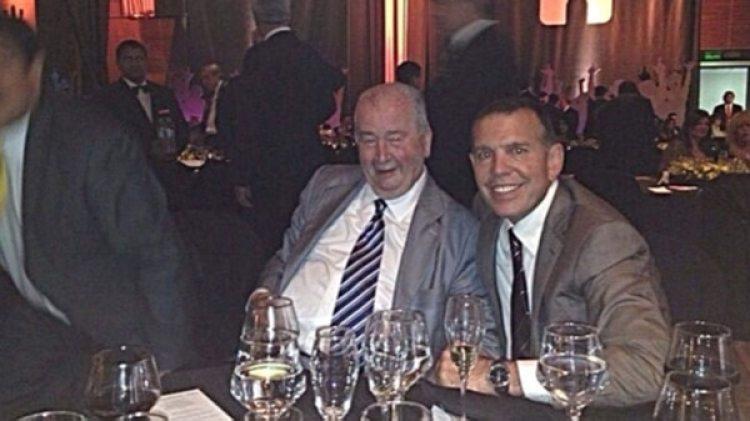 Juan Ángel Napout junto a Julio Grondona, ex presidente de la Asociación del Fútbol Argentino