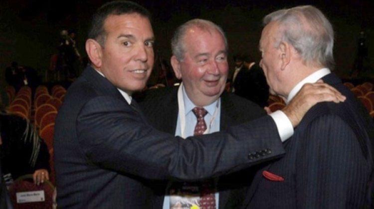 Juan Ángel Napout con Julio Grondona, hoy fallecido, y el brasileño José María Marín, condenado por el FIFA Gate