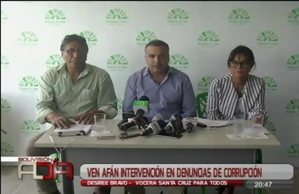 Ven afán intervencionista en denuncias de corrupción contra la Alcaldía cruceña