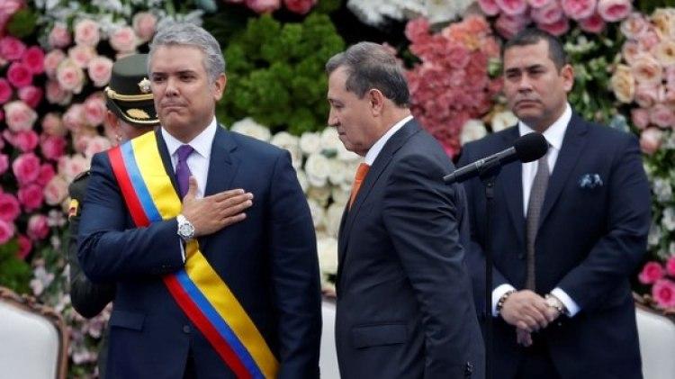 Iván Duque, el día de su asunción con presidente de Colombia, el 7 de agosto de 2018 (Reuters)