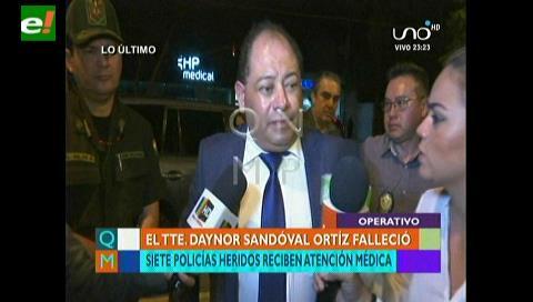 Ministro Romero confirma fallecimiento de unos de los efectivos policiales emboscado en La Asunta