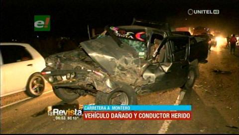 Accidente de tránsito dejó una persona herida en la carretera a Montero
