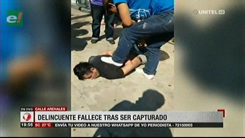 Delincuente muere tras ser capturado por vecinos en la calle Arenales