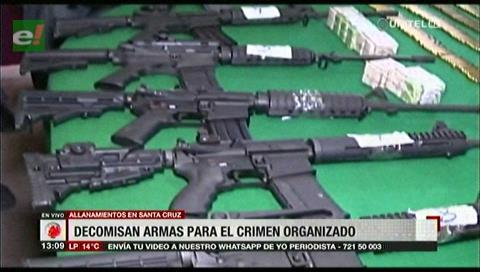 Santa Cruz: Decomisan armas que serían para el crimen organizado