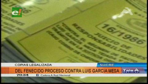 TSJ entrega a Comisión de la Verdad documentos del juicio a García Meza
