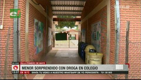 Santa Cruz: Encuentran a dos estudiantes con marihuana en un colegio