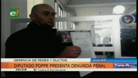 Diputado Poppe denuncia al ministro de Hidrocarburos y presidente de YPFB