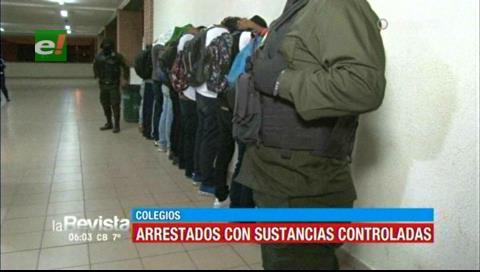 Policía detuvo a menores con droga tras varios operativos en colegios